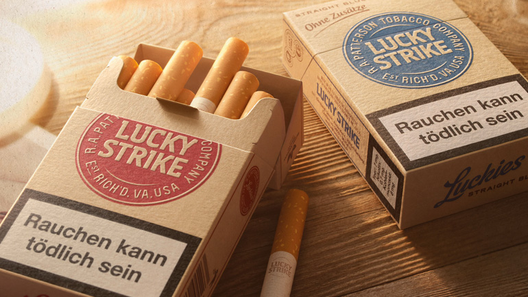 LUCKY STRIKE STRAIGHT RED & BLUE